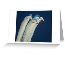 Red Arrows in Cambridge Greeting Card