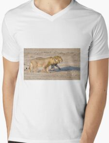 Brothers in Arms - Etosha NP Namibia Mens V-Neck T-Shirt