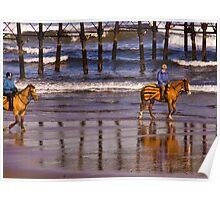 Ride Along The Beach - Saltburn Poster