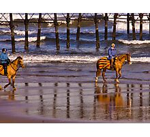 Ride Along The Beach - Saltburn Photographic Print