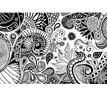 Doodle flowers Photographic Print