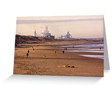 Along the Beach to Redcar Greeting Card