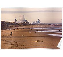 Along the Beach to Redcar Poster