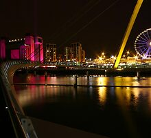 Newcastle nightscape by christopher363