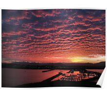 Evening Sunset On The Harbour Poster