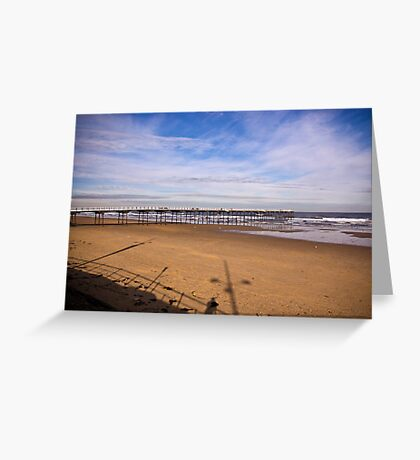 Saltburn Pier #2 Greeting Card