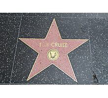 Tom Cruise's Star on the Hollywood Walk of Fame Photographic Print
