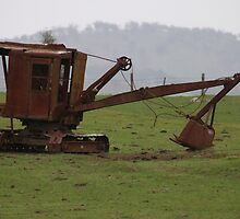 Seen Better Days - Excavator by Stuart Daddow Photography