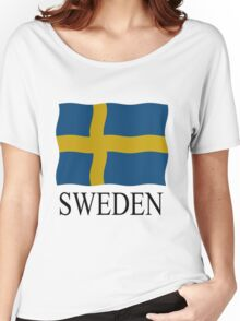 Sweden flag Women's Relaxed Fit T-Shirt