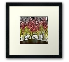 Bad day at the office. Framed Print