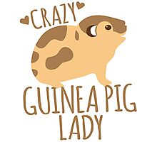 Crazy Guinea Pig Lady Photographic Print