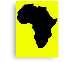 The continent of Africa map of African nation Canvas Print
