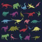 Colorful Mini Dinosaur  by naviblue