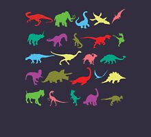 Colorful Mini Dinosaur  Womens Fitted T-Shirt