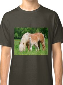 Haflinger, mom and foal Classic T-Shirt