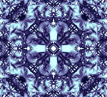 "25. ""Spirit of India: Dark Frozen Fleur"" in blue-violet and cyan by FireFairy"