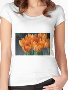 tulips in bloom Women's Fitted Scoop T-Shirt