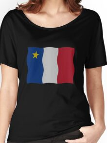 Acadian flag Women's Relaxed Fit T-Shirt