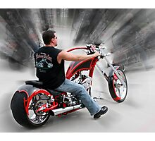 Chopper with motion blur effect Photographic Print