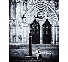 Waiting while St Peter goes back home for the keys Photographic Print