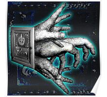 My Fingers United in Blue Poster