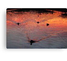 The Early Birds Canvas Print