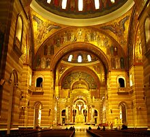 Inside the Cathedral Basilica of St. Louis by barnsis