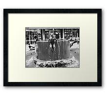 B&W Fountain Detail Framed Print