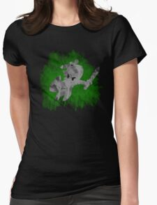 The Minish Brush Green Womens Fitted T-Shirt