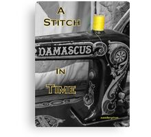 A Stitch In Time Canvas Print