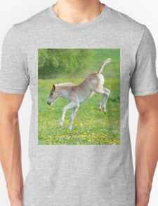 Haflinger foal frolicking Unisex T-Shirt