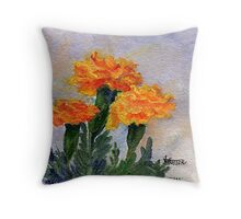 Three Sisters  Marigolds Throw Pillow