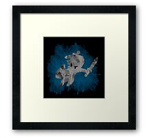 The Minish Brush Blue Framed Print