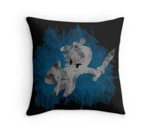 The Minish Brush Blue Throw Pillow