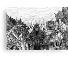 Evil Army Canvas Print