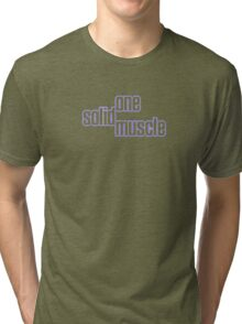 One Solid Muscle Tri-blend T-Shirt
