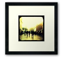 On their way to christmas shopping heaven... Framed Print