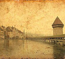 Golden Kapellbrucke in Lucerne by PrivateVices