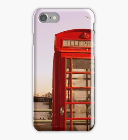 Phone Booth in Brighton iPhone Case/Skin