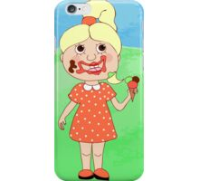 Girl with ice-cream iPhone Case/Skin
