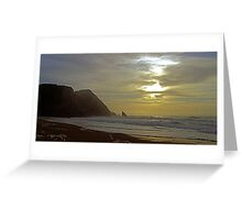 Sunset  at Adraga beach Greeting Card