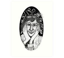 An Italian Lady-with a sense of magic and wonder Art Print