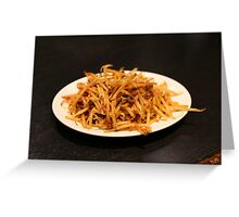 Spicy Bean Sprouts Greeting Card