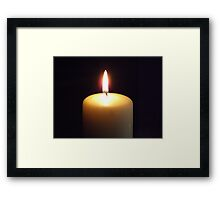 Candle flame..... Framed Print