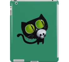 Black Halloween Cat with Skull iPad Case/Skin
