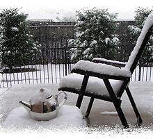 Snowy Tea Pot by greenblueyellow