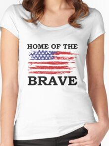 Free Since 1776 – American Patriot Women's Fitted Scoop T-Shirt