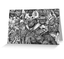 Orc Army Greeting Card