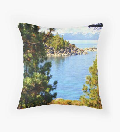 """""""Tahoe Inlet"""" Throw Pillow"""