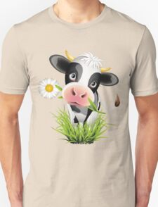Cute cow with pretty eyes Unisex T-Shirt